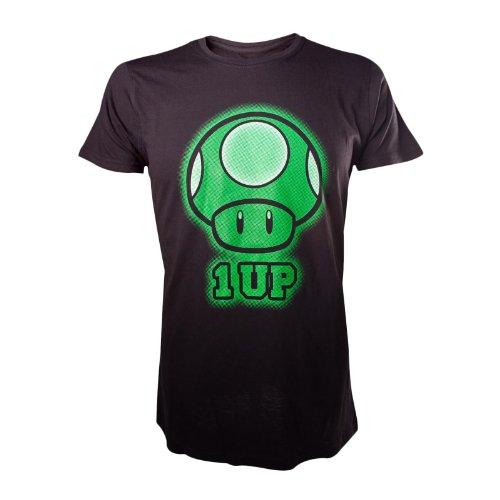Preisvergleich Produktbild Super Mario by Nintendo - 1 UP T-Shirt Gr. S Designer Tee Original & Lizensiert