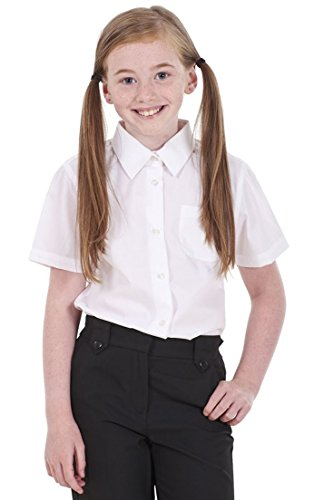 BHS Girls 2 Pack Regular Fit Non Iron Short Sleeve School Shirt