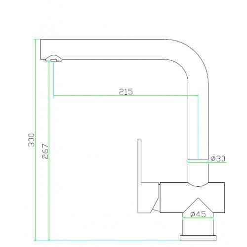 Spültischarmatur Wasserhahn Küche Spültisch Armatur Mizzo Design Arlori - 100% Edelstahl Mischbatterie - matt gebürstet - Küchenarmaturen Waschtischarmatur Einhebelmischer - 2