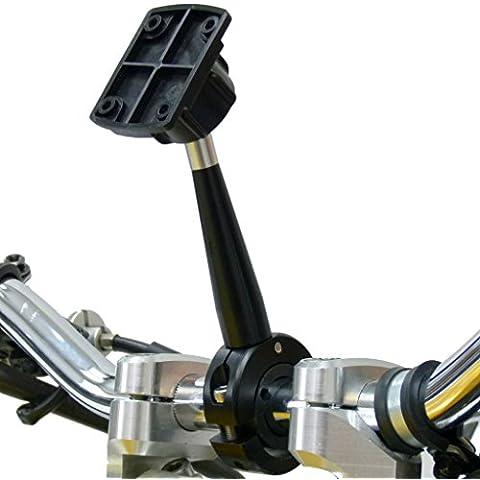 BuyBits Prolungato 12cm metallo di qualità Moto Manubrio per Garmin zumo 595LM 395LM 345LM Dock - Adattatori Di Estensione Raccordi
