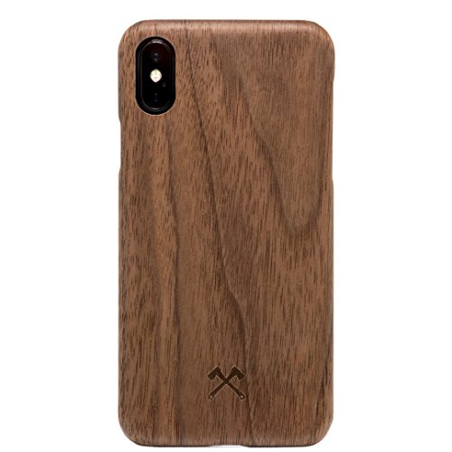 Woodcessories - EcoCase Slim Series - iPhone X, Xs Hülle, Case, Cover, Backcover aus FSC zert. Holz Premium Design (Walnuss)