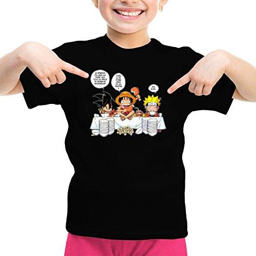 T-Shirts Dragon Ball Z -One Piece - Naruto parodique Luffy, Naruto Sangoku : La Recette d'un Bon Shonen Manga (Super Deformed) (Parodie Dragon Ball Z -One Piece - Naruto)