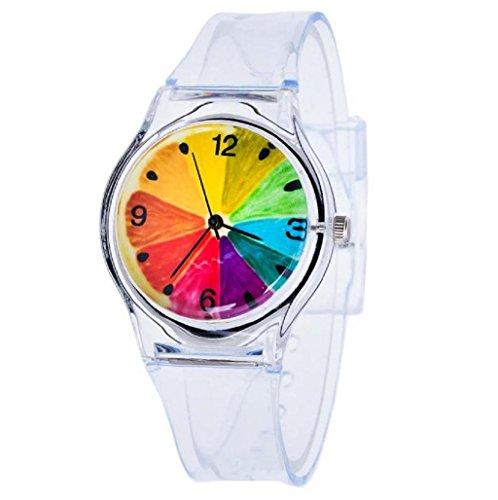 Sannysis Jalea de gel de silicona de cuarzo analógico Deportes Mujeres reloj de pulsera (08)