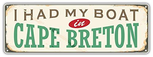 SkyBug Cape Breton City Canada Retro Sign Travel Bumper Sticker Vinyl Art Decal for Car Truck Van Window Bike Laptop -