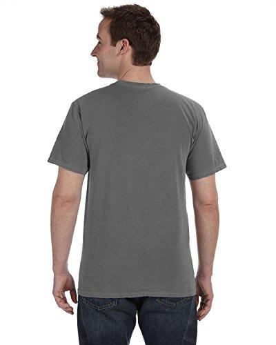 Gelber Fu§ball auf American Apparel Fine Jersey Shirt Smoke