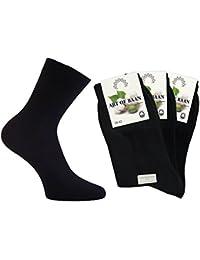 Art-of-baan® 10 Paar Business Herren Socken aus Naturfaser - 100% Baumwolle - Schwarz - 39 40 41 42 43 44 45 46 47 48 49 50