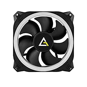 Antec Spark 120 RGB Case Fan with Dual-Ring Aperture 120mm PWM Fan and Shock Absorbing Hydraulic Bearings