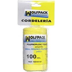 Wolfpack 16010197 Cuerda Trencilla Polipropileno Azul (Bobina 100 Metros)