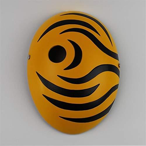 e Tobi Obito Naruto Akatsuki Ninja Madara Uchiha Masquerade Full Face Resin Cool Maske Party Maske Sd31 orange ()