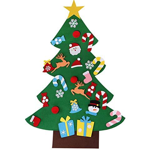 Tenflyer albero di natale in feltro fai-da-te, decorazione regalo da appendere a parete per bambini... (a)