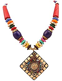 The Lakh Metal Multicolor Necklace ( Fashion Jewellery) For Womens Nek2