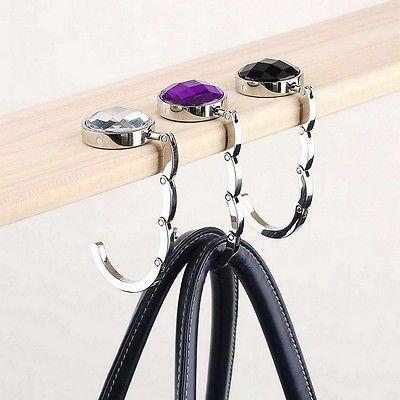 Generic Schwarz: NEU Tragbarer Tisch Haken kleine Werkzeuge Halterung Hot Fashion zusammenklappbar Handtasche Aufhänger (Abas-geldbörse)