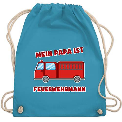 Feuerwehr Kind - Mein Papa ist Feuerwehrmann - Unisize - Hellblau - WM110 - Turnbeutel & Gym Bag