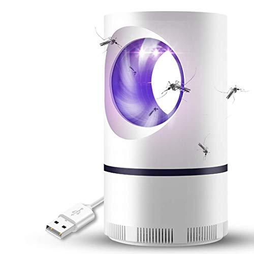 VN Indoor-Mückenfalle: Mückenvernichter LED UV-Licht, Lüfter, Keine Strahlung - Kindersicherheit, ungiftig, USB-Betrieb, weiß (ohne Adapter)
