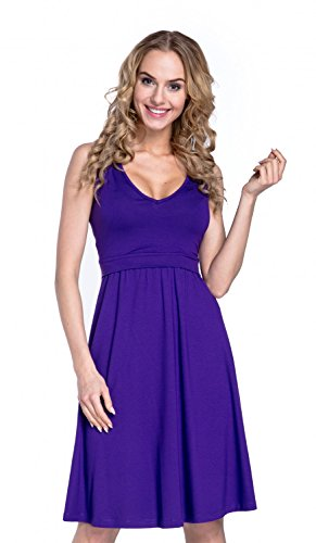 22e19bf261f Happy Mama. Women's Maternity Nursing Layered Skater Dress Sleeveless. 685p