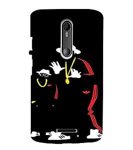 PrintVisa Hip Hoppers Neon Silhouette 3D Hard Polycarbonate Designer Back Case Cover for Motorola Moto X3
