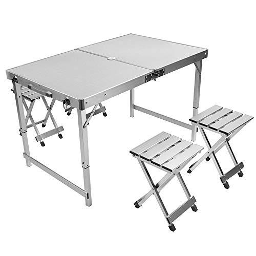 CHENGGUO Table et chaises Pliantes extérieures, Table Pliante de Bordure en Aluminium portative de Loisirs à la Maison de Loisirs au Barbecue, Table portative extérieure portative