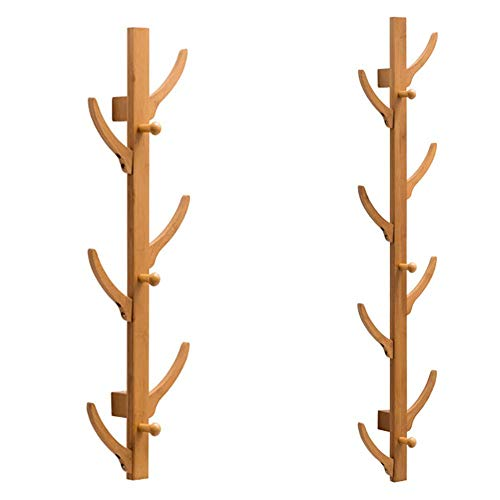 Cherishly Perchero de Pared de Madera, Perchero suspendido en la Pared para Colgar en la Pared, Perchero de Almacenamiento en la Sala de Estar del Dormitorio (1Pcs)