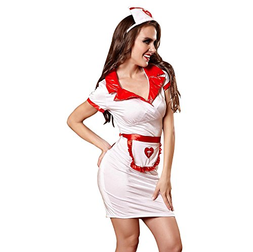 Frauen-Sex-Dessous, Summers Damen-Damen-Knockout-Krankenschwester-Outfit-Kleid Sexy Fancy Nachtwäsche , M