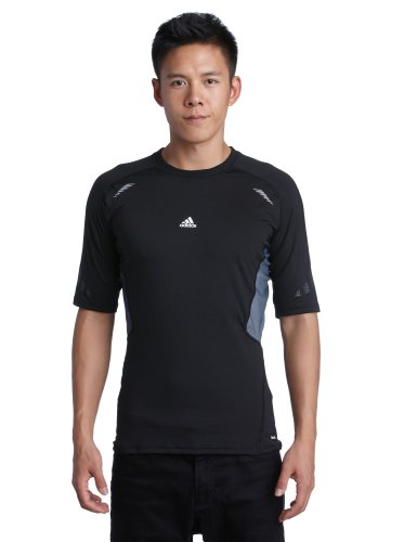 adidas Herren kurzärmliges Shirt Techfit Preparation, black, S, W58876 (Core Sleeve Adidas Top Short)