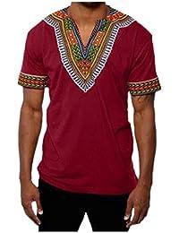 CHENGYANG Hommes Couleur Unie Manches Courtes Moulante T-Shirt Slim Blouse Tee Shirts (Vin Rouge, M)