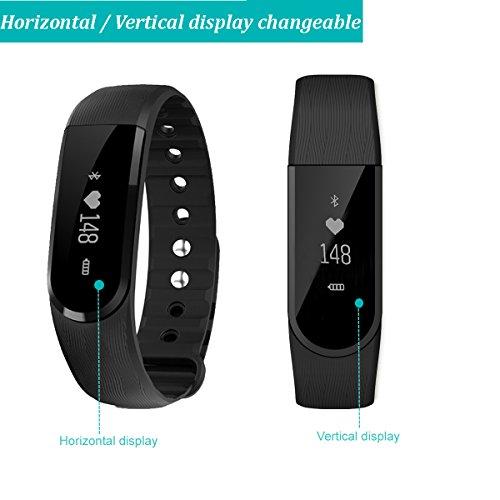 fitness tracker asialong fitness armband mit pulsmesser. Black Bedroom Furniture Sets. Home Design Ideas