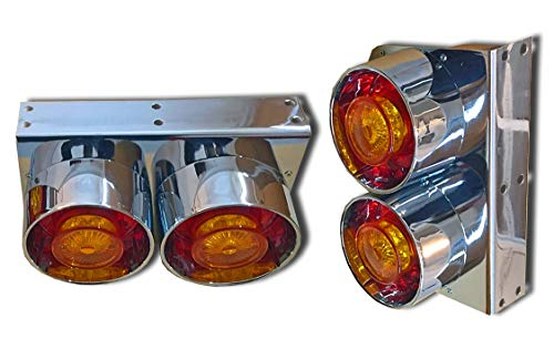 2 x 24 V LED Universal Rückleuchten Rückleuchten für LKW Chassis LKW Anhänger Traktor Bus Wagon Kipper Camion Lurry Tug Tip-Lorry Dump-Truck Hopper