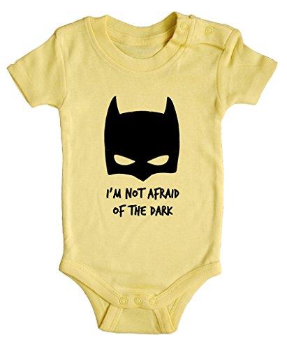 BODY tutina pagliaccetto bimbo neonato I'm not afraid of the dark Batman 3 mesi