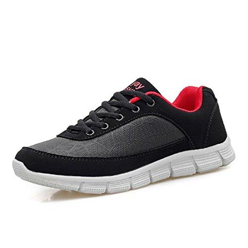 Hommes Chaussures de sport Mode parc de plein air Baskets Chaussures plates Chaussures de course Black