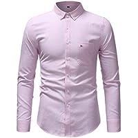 Hombres Primavera Invierno Casual Color sólido Manga Larga Camiseta Delgada Blusa Superior