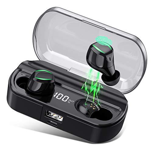 【Neuestes Modell】 Bluetooth Kopfhörer, HETP Kopfhörer Kabellos in Ear, Wireless Kopfhörer Sport Ohrhörer 120 Stunden Spielzeit,【0-100{683e59ca4c0c043b4c7460b40e638ea20a31955beedbdb36f27e96f69030b9a2} LED Digitalanzeige】mit Mikrofon IPX7 Wasserdicht für iOS Android