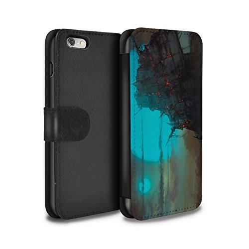 Offiziell Chris Cold PU-Leder Hülle/Case/Tasche/Cover für Apple iPhone 6 / Apokalypse Muster / Gefallene Erde Kollektion Gift Haupt