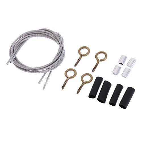 D DOLITY Tow Seil Schleppseil Stahlseil mit Zubehör für 1:10 RC Crawler Auto -