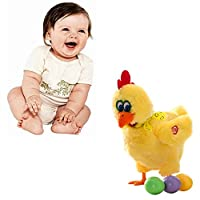 Abester interesting Laying Egg Chicken Toy Electric Interactive Stuffed Plush Animals Singing Toy Doll Gift for Kids
