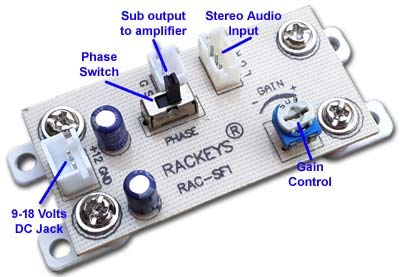 Rackeys Subwoofer Filter Bass Board with Inbuilt Phase Inversion Switch