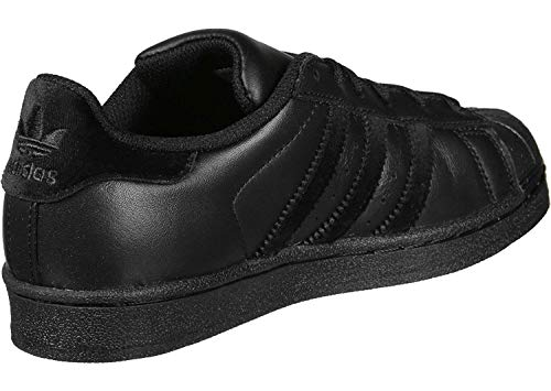 adidas Unisex-Kinder Superstar J Fitnessschuhe, Schwarz (Negbas/Negbas/Negbas 000), 35.5 EU