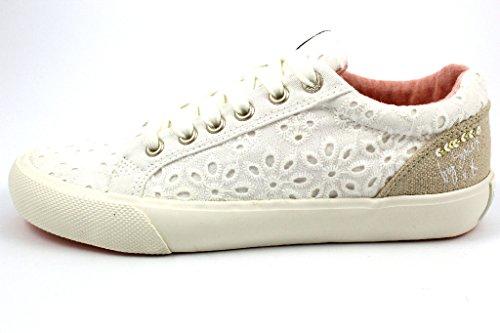 SOCCX  Scu-1755-8192-0005, Chaussures de ville à lacets pour femme Weiß