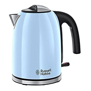 Russell Hobbs 20417 Colours Plus Kettle, 3000 W, Heavenly Blue
