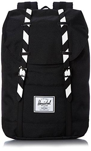 Herschel , Sac à dos casual mixte - Multicolore - Black/Black Stripe Rubber, 109,22 cm
