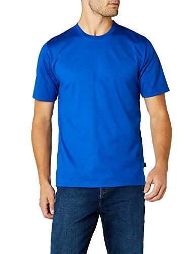 Trigema Herren T-Shirt aus Baumwolle 637202, Royal, XL -