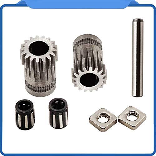 ARDUTE 1 Satz Prusa I3 Mk2 / Mk3 3D Drucker Teil Geklont Btech Dual Prusa I3 Zahnräder 3D Praktische Zahnräder - Silber -