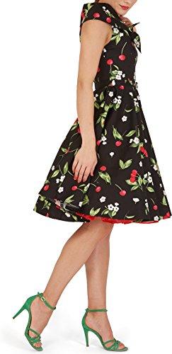 BlackButterfly 'Cynthia' Vintage Joy Kleid im 50er-Jahre-Stil Schwarz Rot