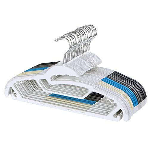 Antideslizantes Metal Color Plateado CRI006-20 40 x 10,5 cm SONGMICS Perchas para Pantalones Faldas 20 Unidades Extra Anchas