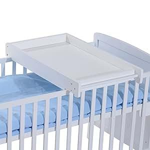 homcom wooden cot top changer baby changing station infant. Black Bedroom Furniture Sets. Home Design Ideas