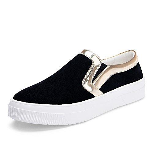 chute de Lok Fu chaussures femme/Chaussures féminines polyvalent/Chaussures épaisses avec décontractée Etudiant Appartement en Angleterre à la fin du vent B