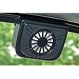 SHREEJIIH Auto Cool- Solar Powered Ventilation Fan Keeps Your Parked Car Cool -Black