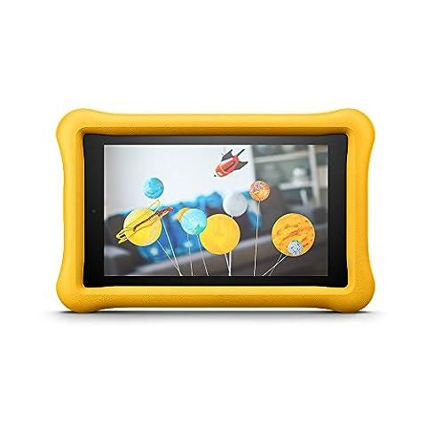 Amazon - FreeTime - Coque spéciale enfants pour Fire 7 (tablette 7 pouces, 7ème génération - modèle 2017), Jaune