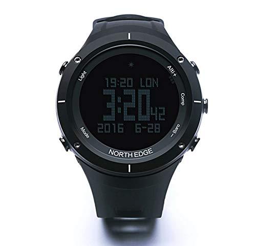 mishuai Mishuai Sport intelligente Uhr Multifunktionsschritt Wasserdichte Uhr (Color : Schwarz)