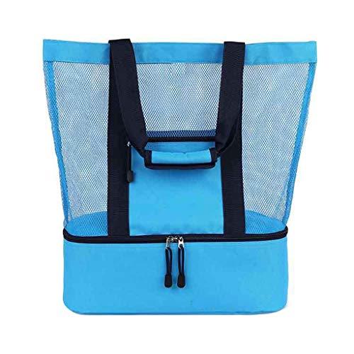 Marvvola Damen Herren und Kinder Lunch-Paket,Lunch Tote Isoliertasche Kühltasche Lunchbox Lunch Tasche,Beutel 6Zoll Thermal Mittagessen Tasche (20Zollx16Zollx6Zoll, Blau) -