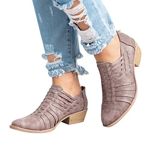 148d58b9c2e4f2 Meilleur achat Western Ankle Boots Femme Hiver Bottines Chelsea à Talon,Overdose  Soldes Automne Chaussures Bottes en Cuir Sexy Boots